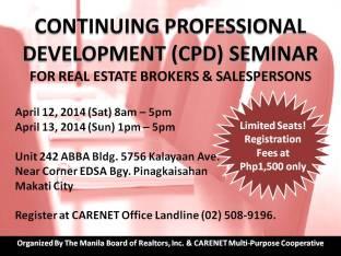 CPD Seminar April 2014