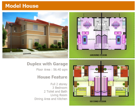 Birmingham Cabuyao Laguna House and Lot by New Apec Duplex with Garage