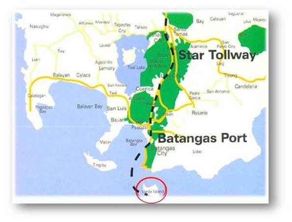 Verde Island Batangas Map