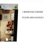 1 BEDROOM CORNER