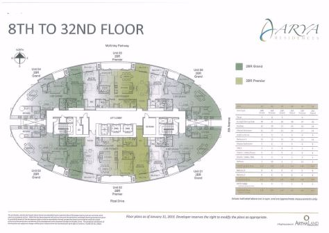 Arya T2 8th to 32nd Flr